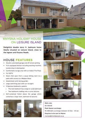 Knysna House Special